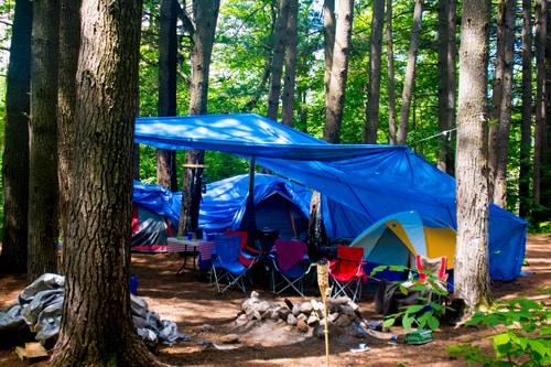 tents at campsite.