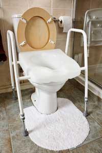 ajustabler height raised toilet seat