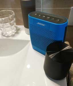 bluetooth bathroom speakers