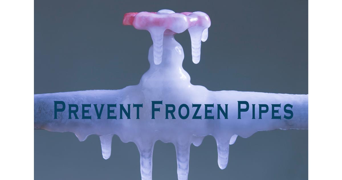 prevent frozen pipes tips
