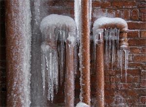 frozen pipes in winter