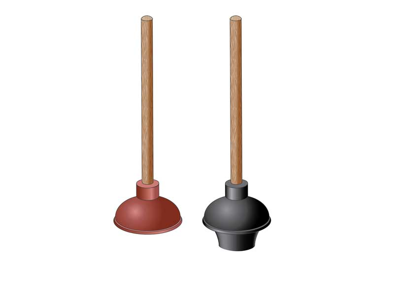 plunger for elongated toilet vs kitchen sink