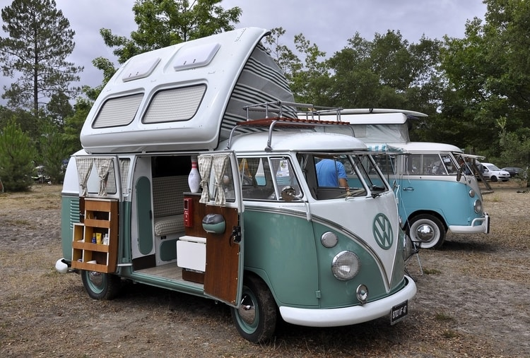 vw van with side open