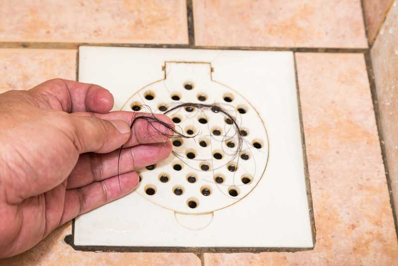 drains without hair catchers easily get clogged
