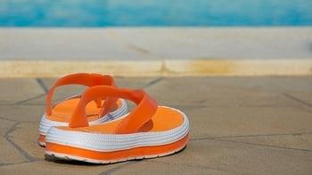 orange flip-flop
