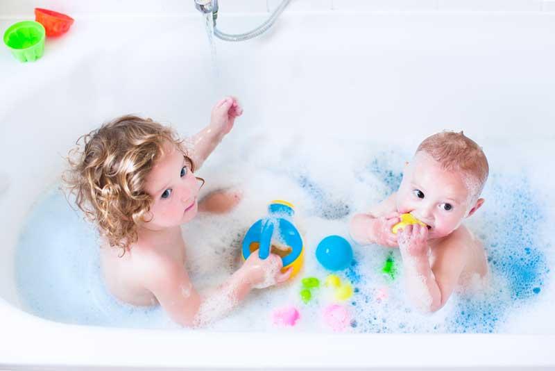 baby in bathtub
