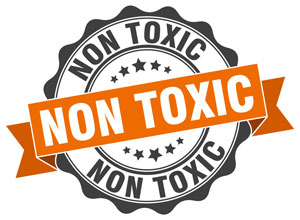 no toxic label from cleaning products