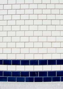 close up of shower tile