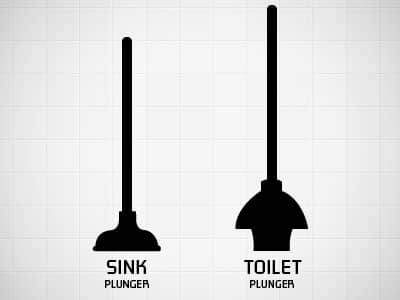 toilet plunger vs sink
