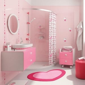 Check Price Pink Bathroom Accessories Sets