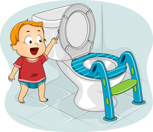 potty ladder with boy