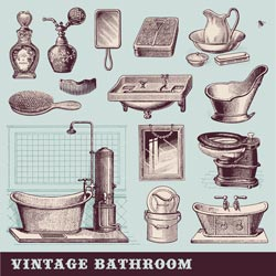 vintage bathroom accessories