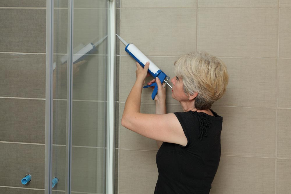 Shower caulk to prevent mildew and mold