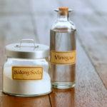 vinegar and baking soda to prevent rotten egg smell