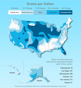 hard water map of the USA
