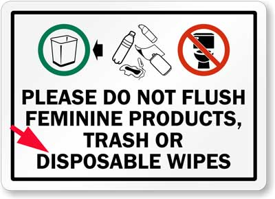 do not flush sign