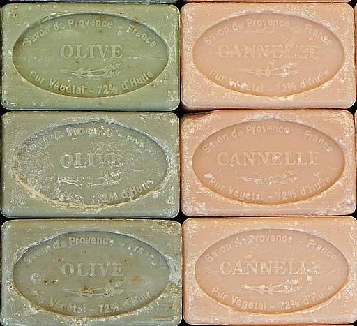 bars of olive oil and cannelle soap
