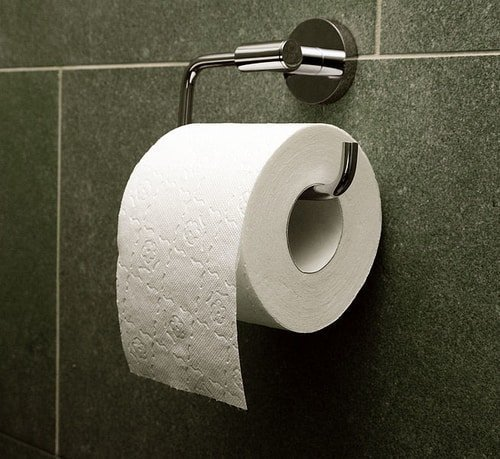 Bathroom toilet paper