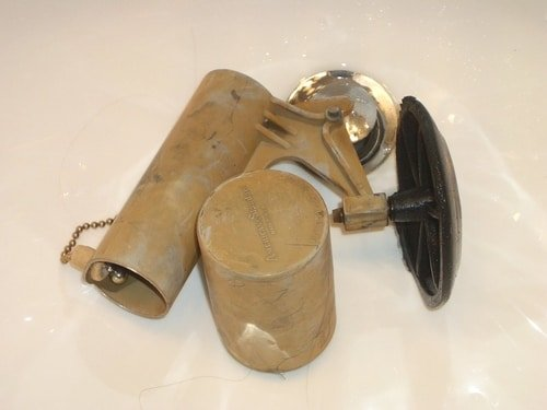 If your toilet flapper looks like this, remove it and replace it immediately