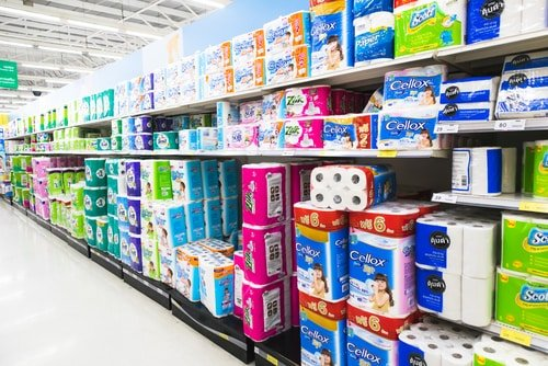 different kinds of toilet paper in store