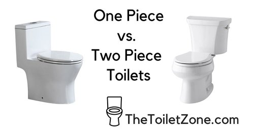 one piece and two piece toilets
