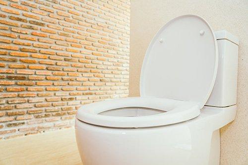 White two-piece toilet