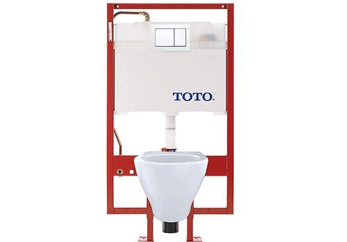TOTO Aquia Wall-Hung Toilet and DuoFit In-Wall Tank System